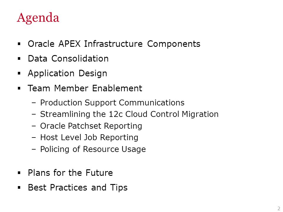 APEX Infrastructure Components