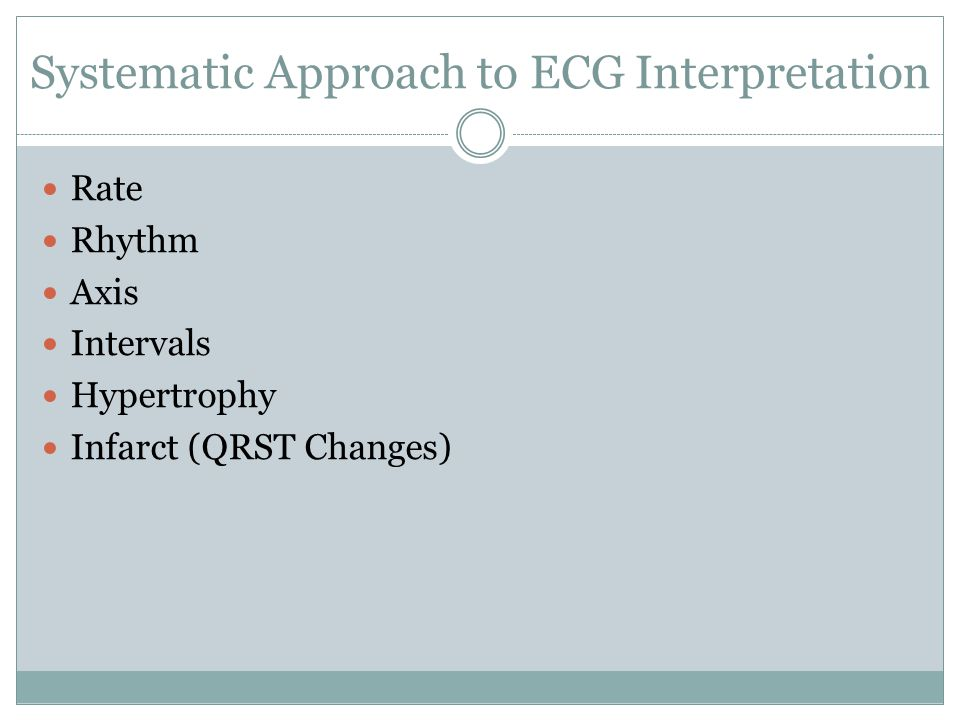 Systematic Approach to ECG Interpretation