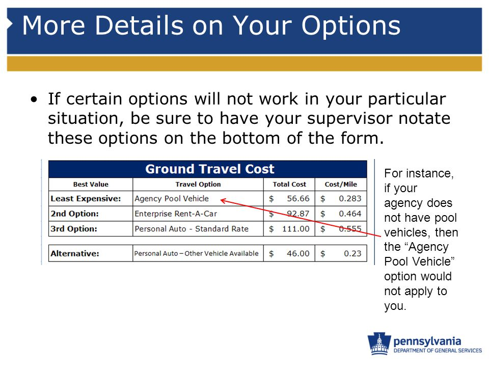 More Details on Your Options