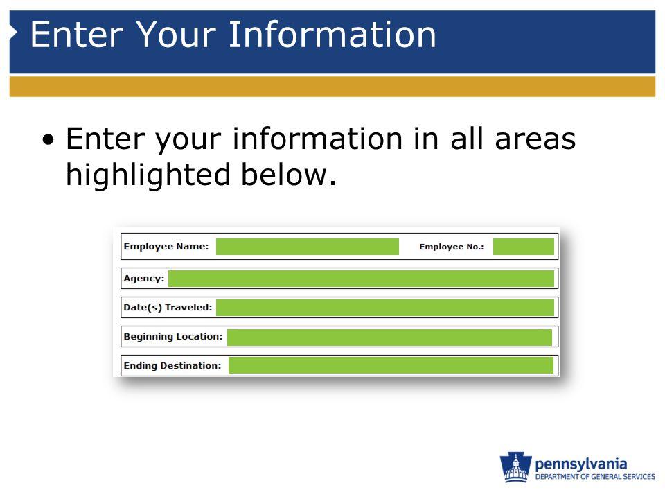 Enter Your Information