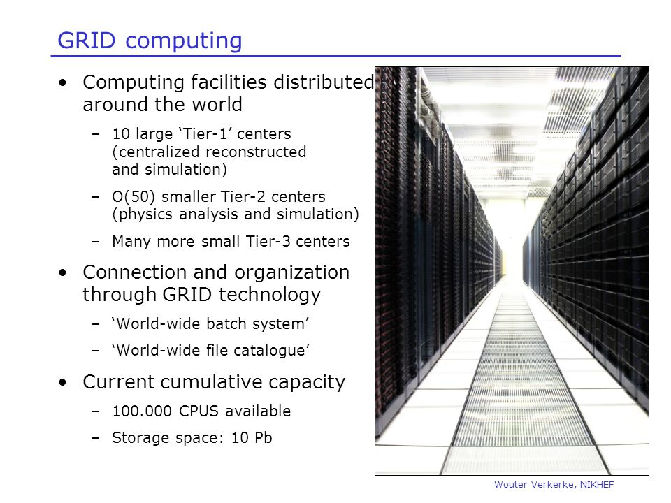GRID computing Computing facilities distributed around the world