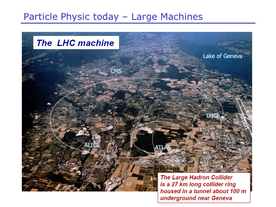 Particle Physic today – Large Machines
