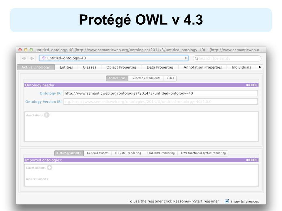 Protégé OWL v 4.3