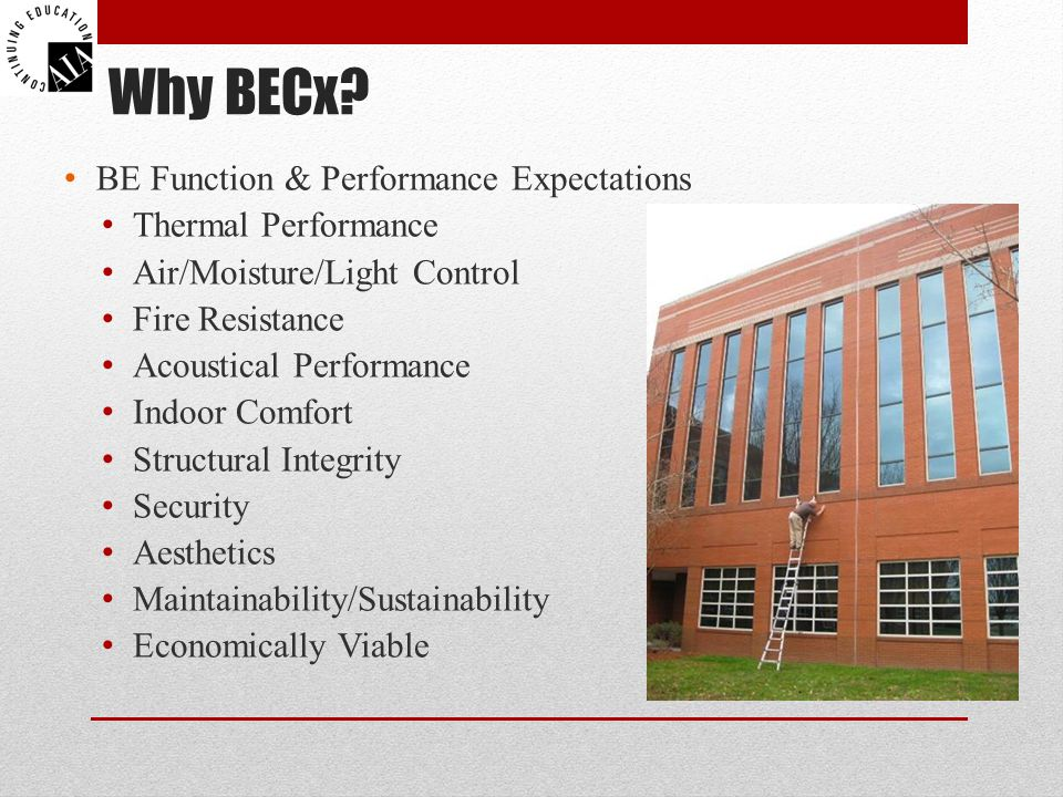 Why BECx BE Function & Performance Expectations Thermal Performance
