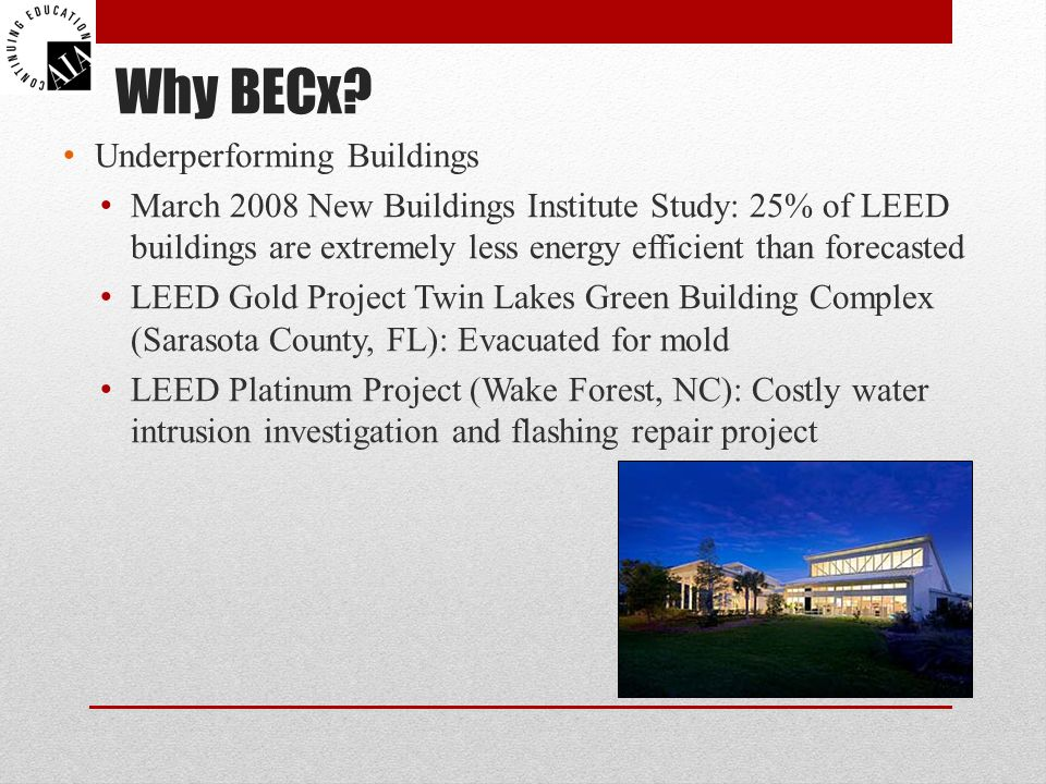 Why BECx Underperforming Buildings