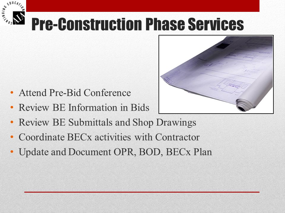 Pre-Construction Phase Services