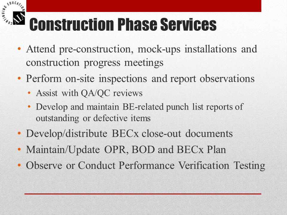 Construction Phase Services
