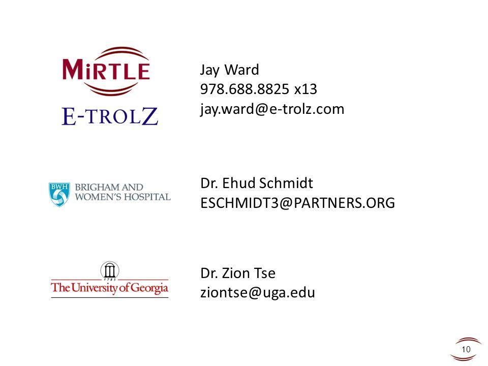 Jay Ward 978. 688. 8825 x13 jay. ward@e-trolz. com Dr