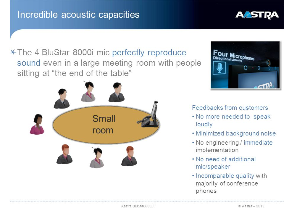 Incredible acoustic capacities