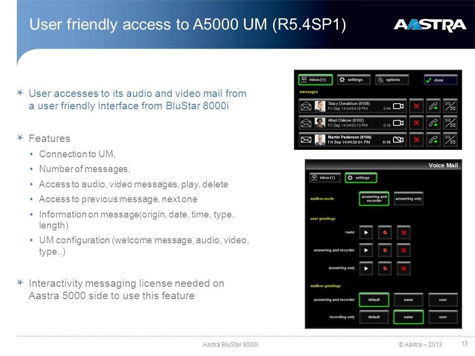 User friendly access to A5000 UM (R5.4SP1)