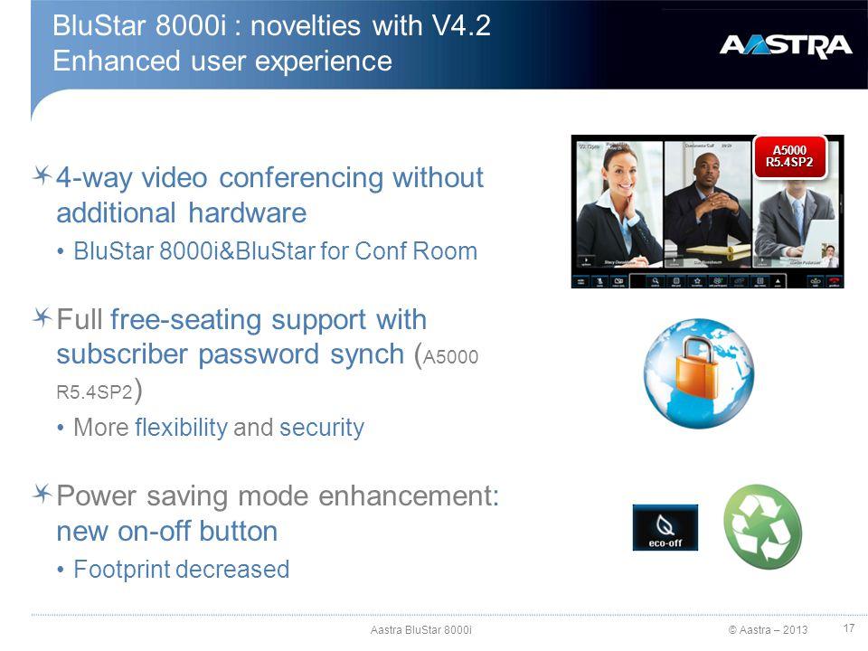 BluStar 8000i : novelties with V4.2 Enhanced user experience