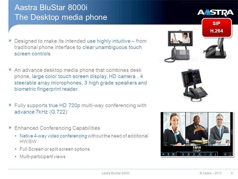 Aastra BluStar 8000i The Desktop media phone