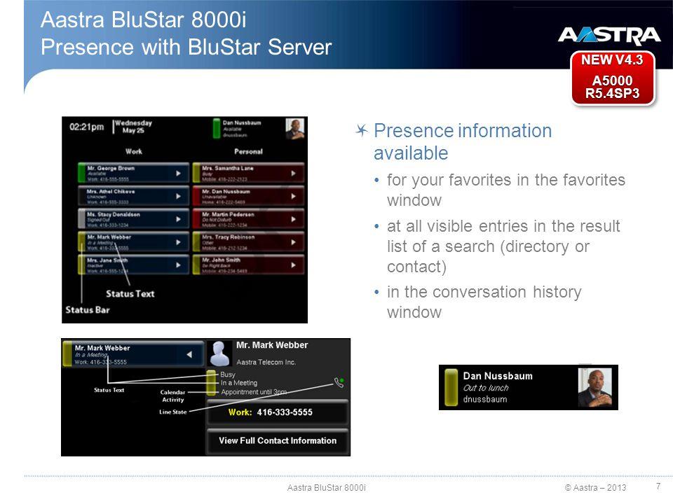 Presence with BluStar Server