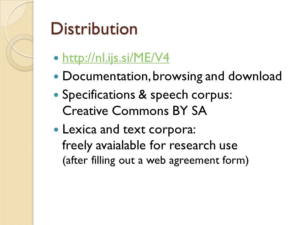 Distribution http://nl.ijs.si/ME/V4