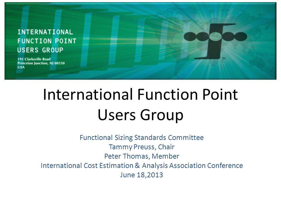 International Function Point Users Group