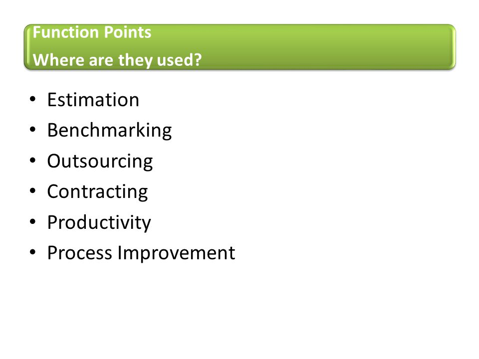 Estimation Benchmarking Outsourcing Contracting Productivity