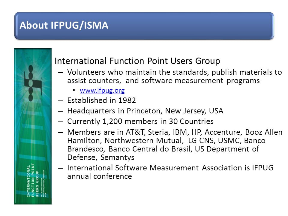 About IFPUG/ISMA International Function Point Users Group