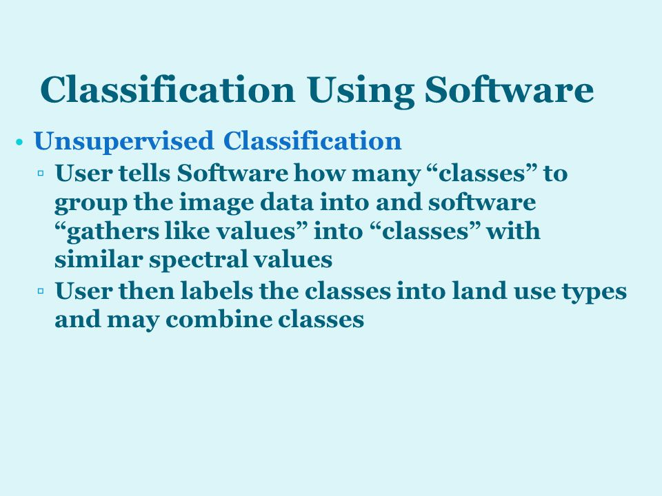 Classification Using Software