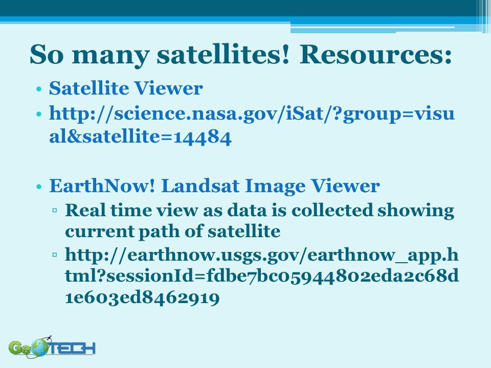So many satellites! Resources: