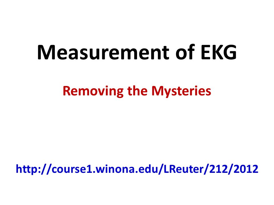 Removing the Mysteries http://course1.winona.edu/LReuter/212/2012