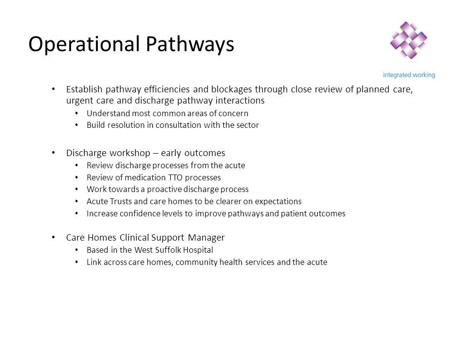 Operational Pathways