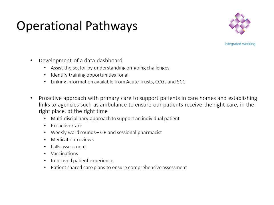 Operational Pathways Development of a data dashboard