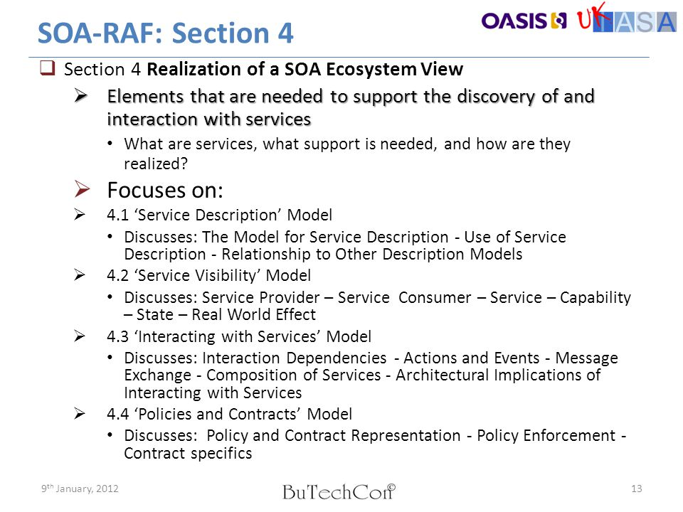 SOA-RAF: Section 4 Focuses on: