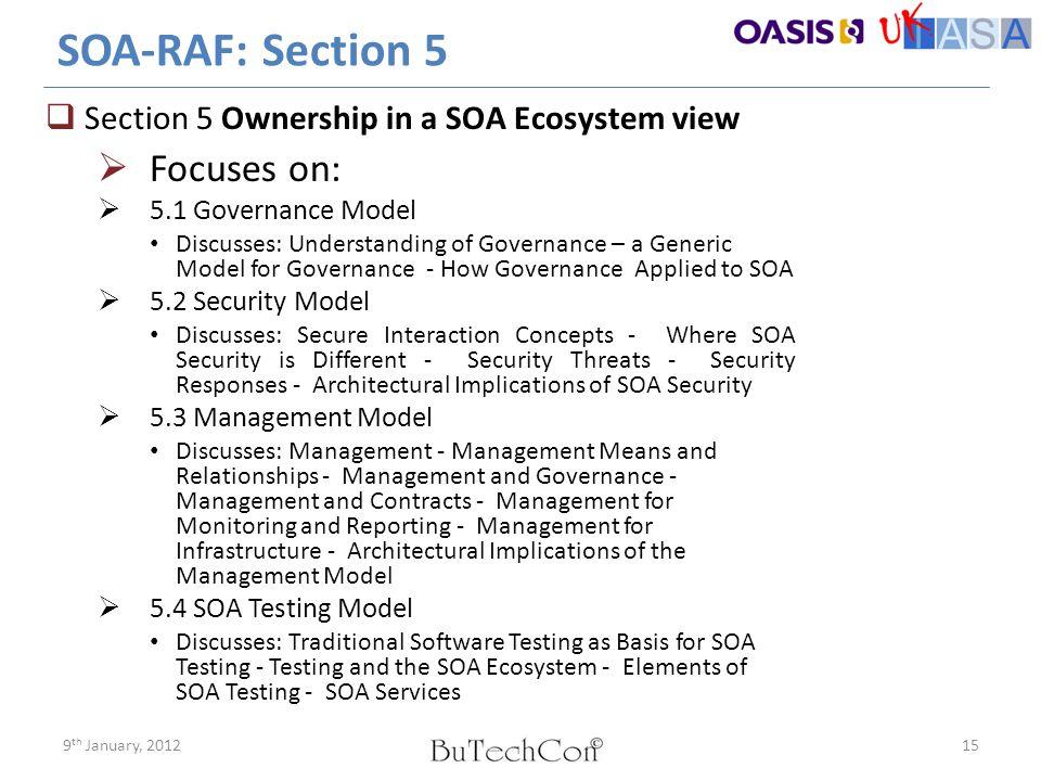 SOA-RAF: Section 5 Focuses on: