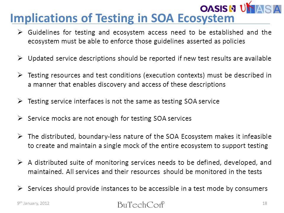 Implications of Testing in SOA Ecosystem