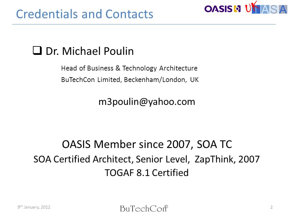 Credentials and Contacts