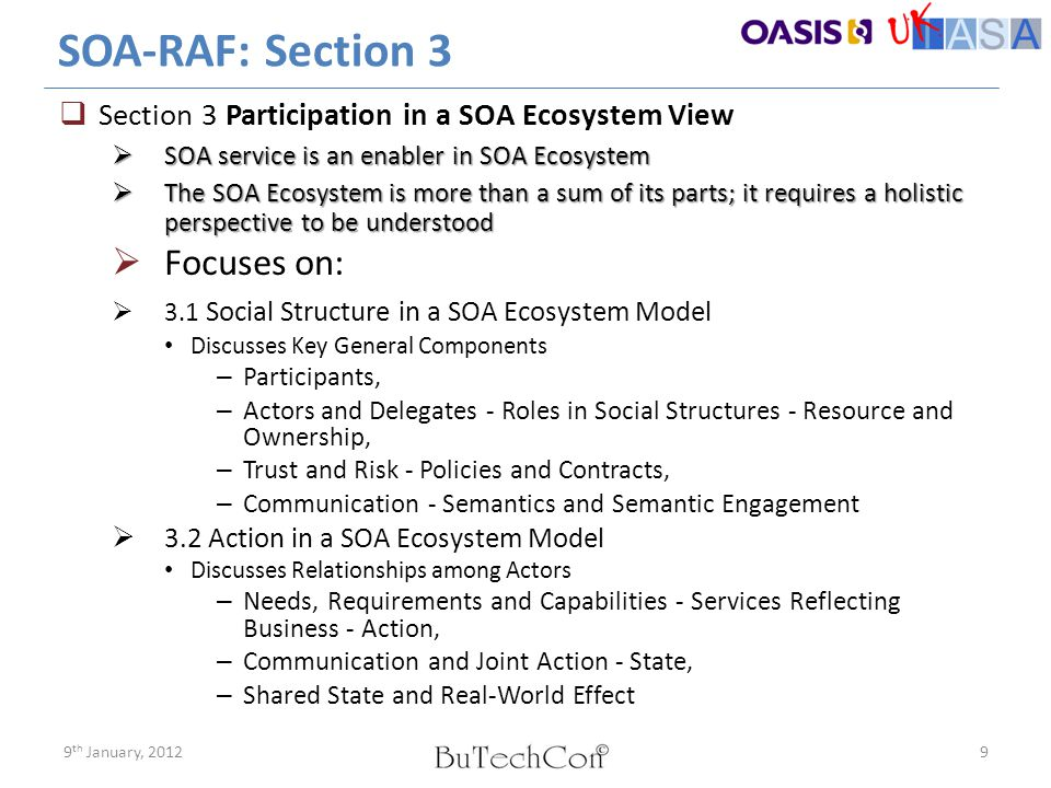 SOA-RAF: Section 3 Focuses on: