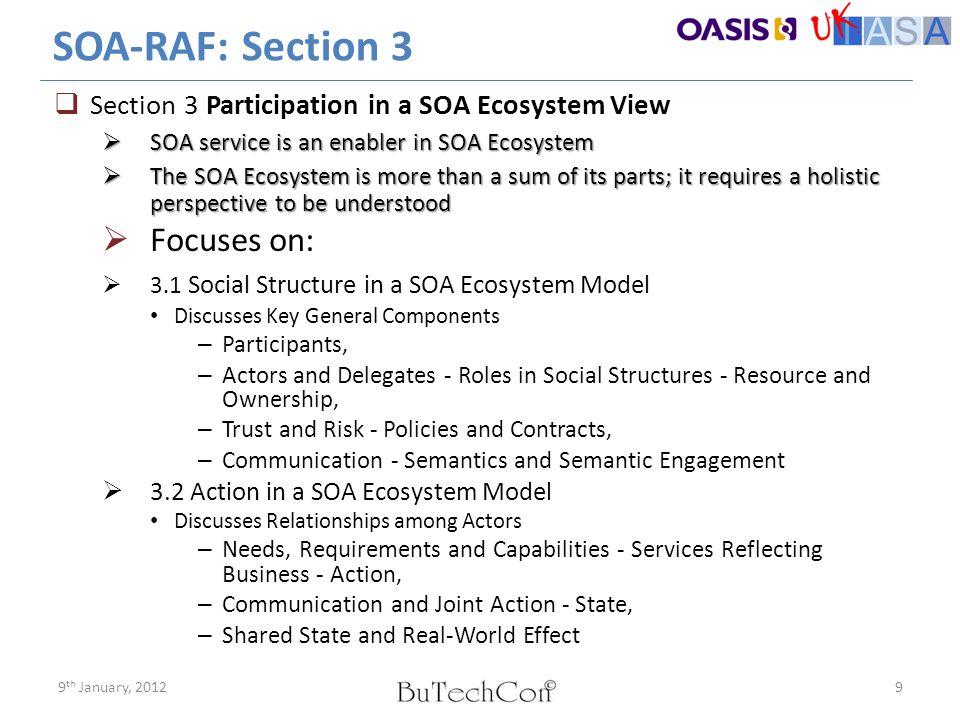 SOA-RAF: Section 3 Focuses on: