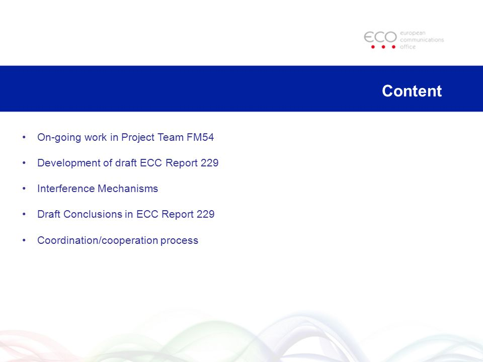 Content On-going work in Project Team FM54
