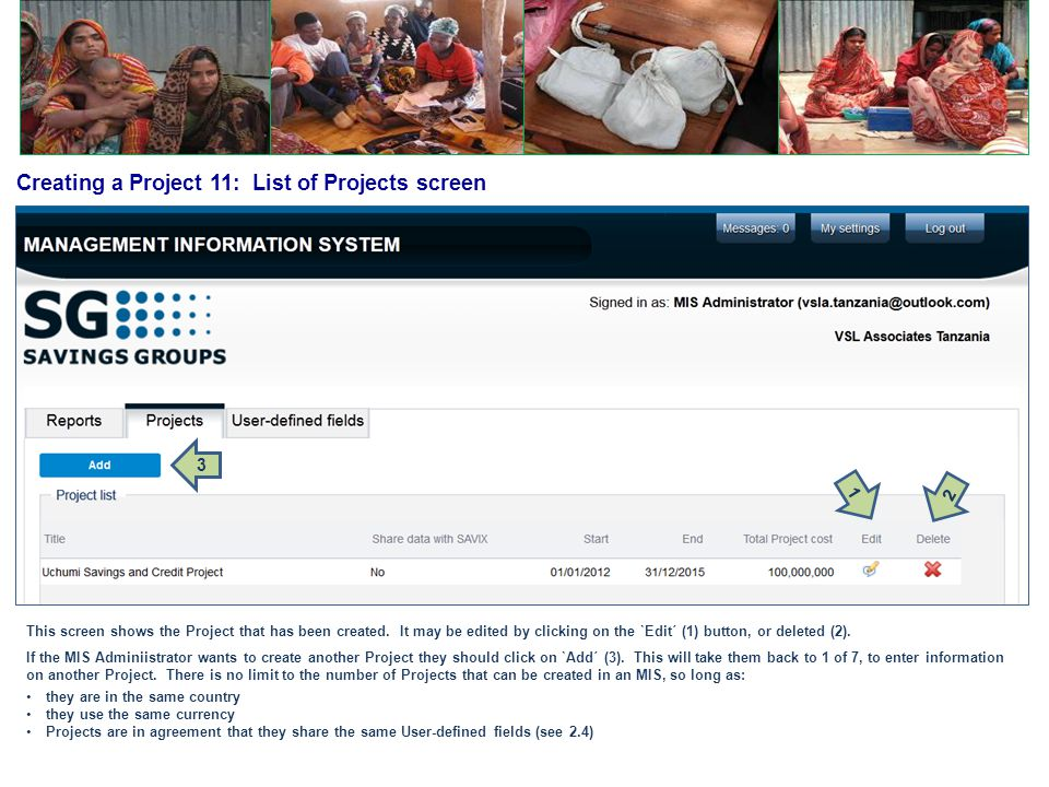 Creating a Project 11: List of Projects screen
