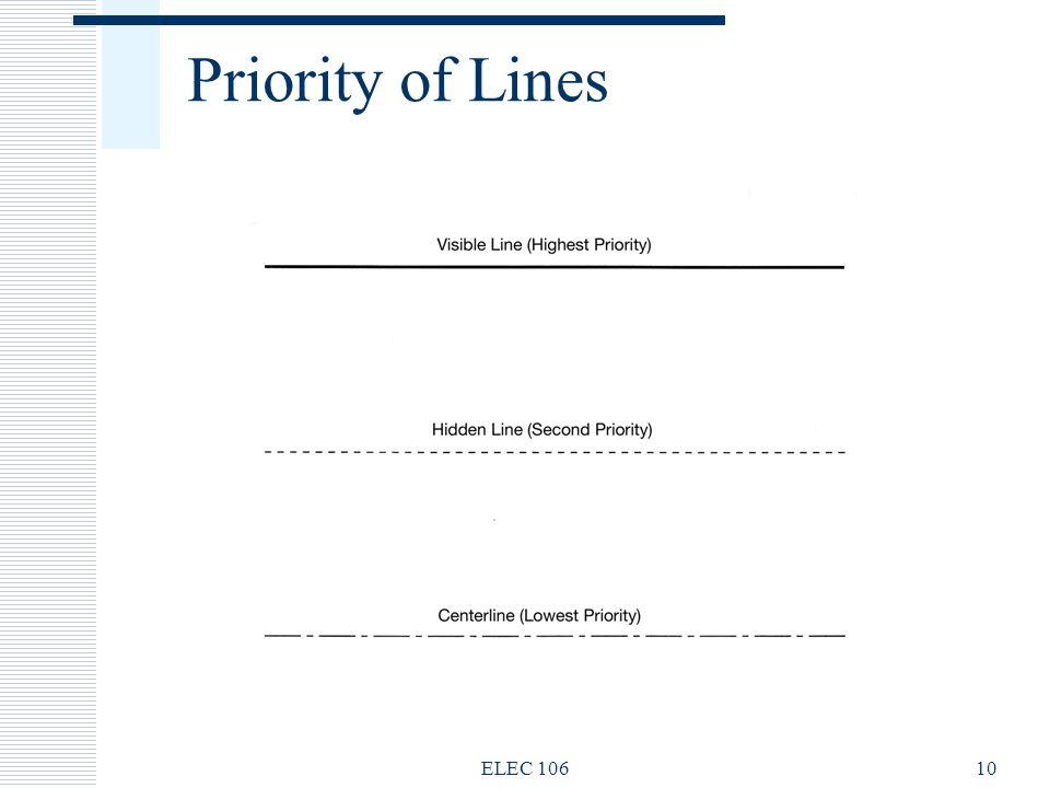 Priority of Lines ELEC 106 ELEC 106
