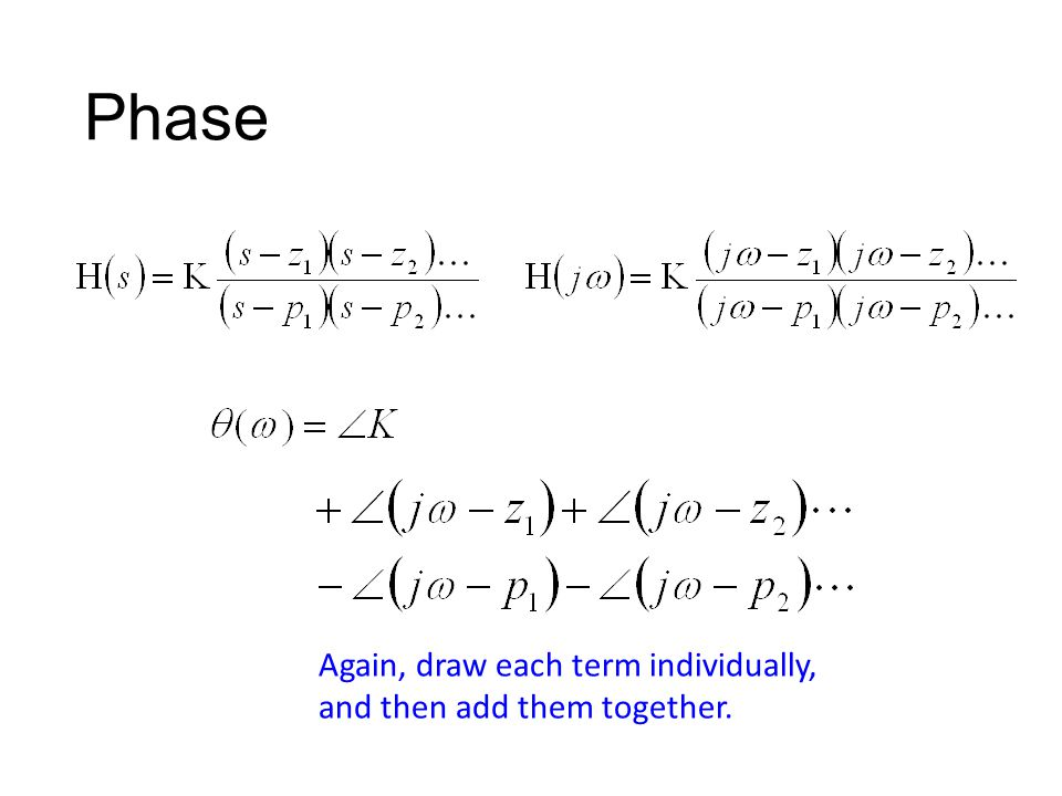 Phase Again, draw each term individually, and then add them together.