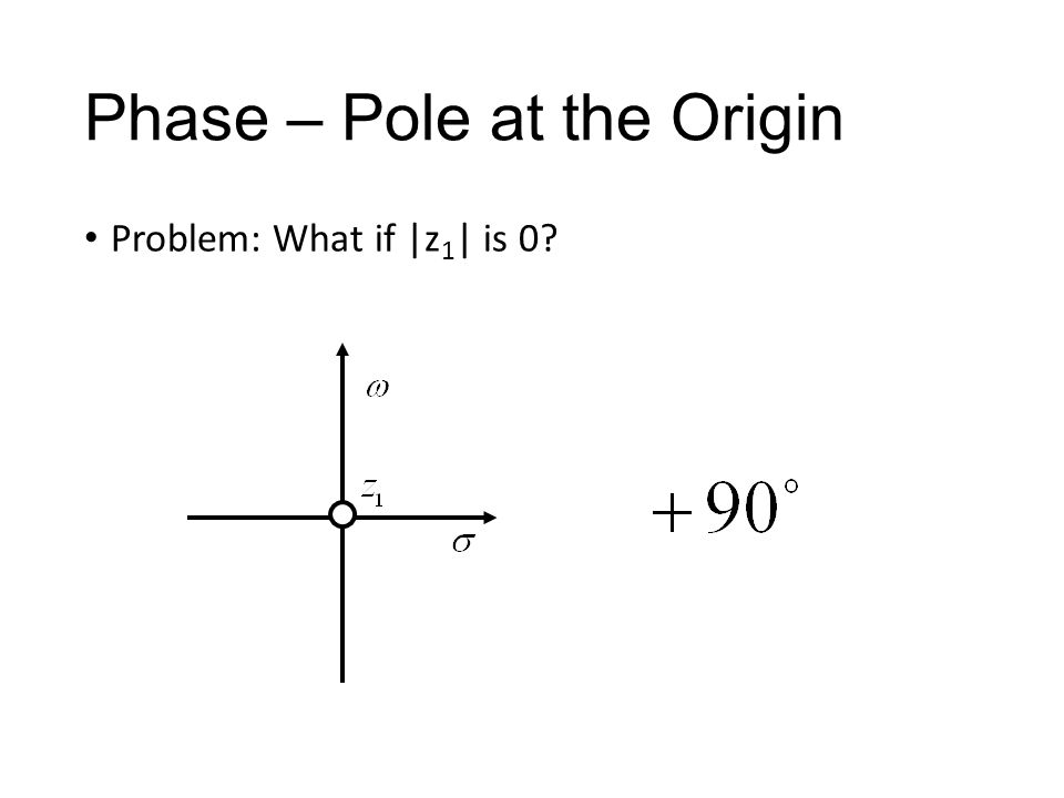 Phase – Pole at the Origin