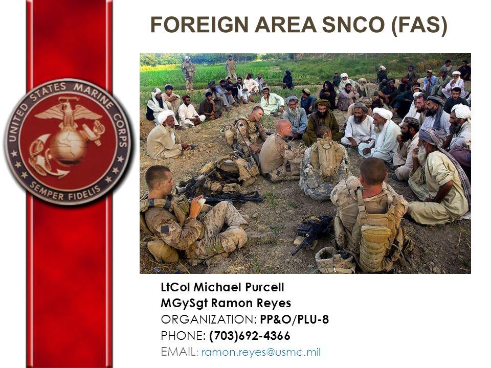 FOREIGN AREA SNCO (FAS)