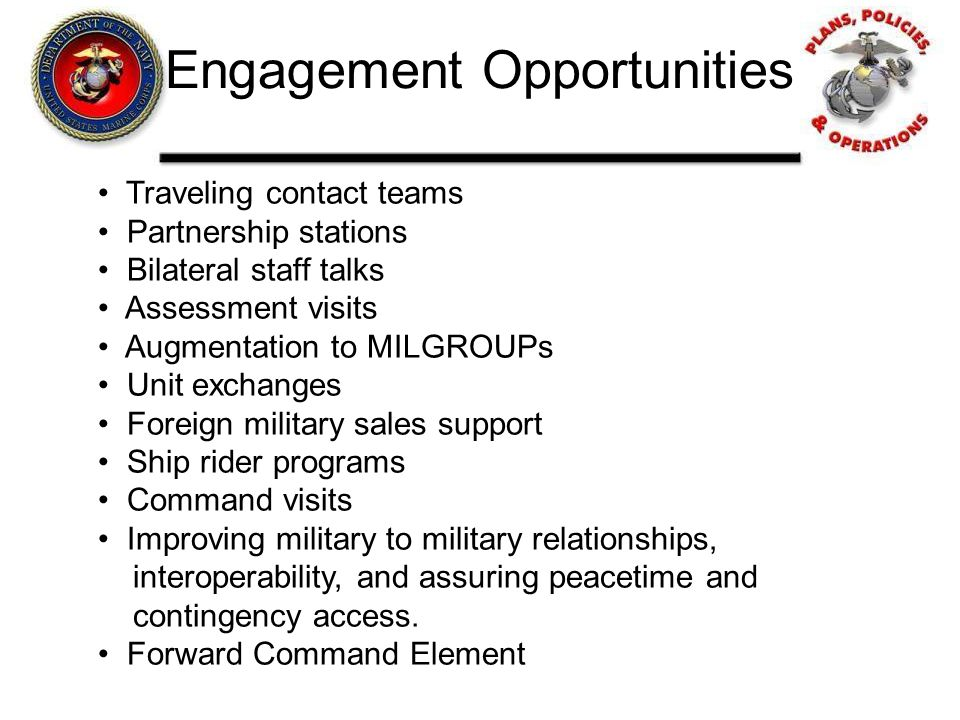 Engagement Opportunities