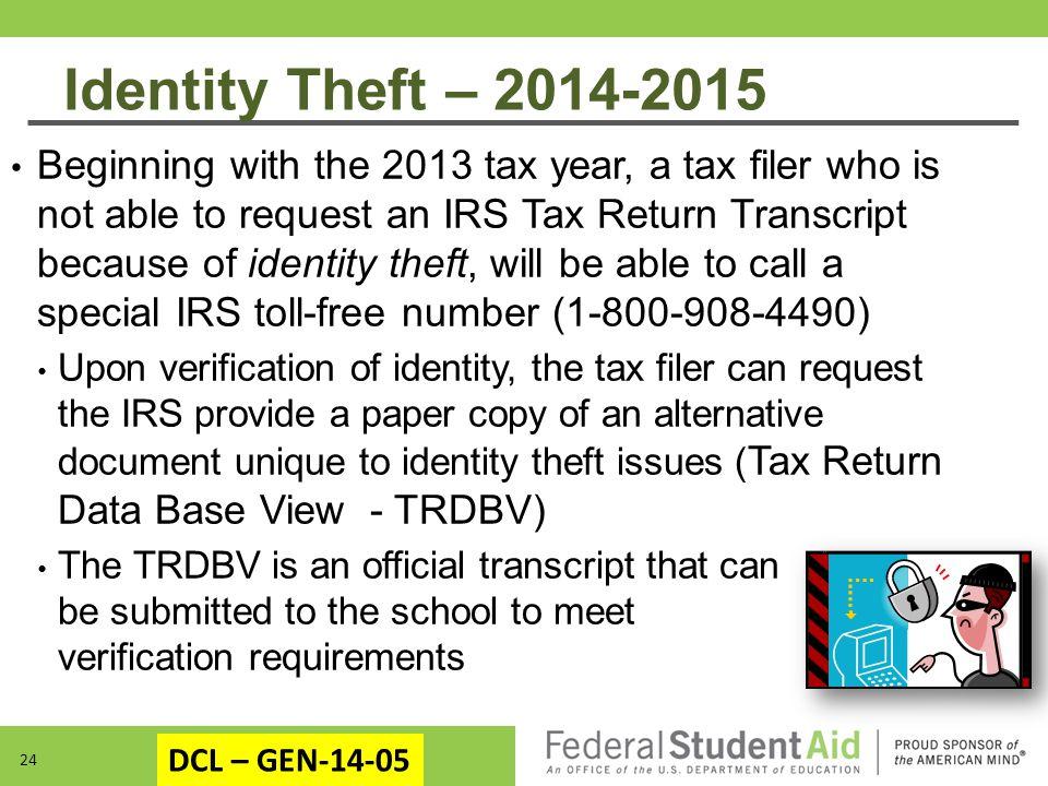 Identity Theft – 2014-2015