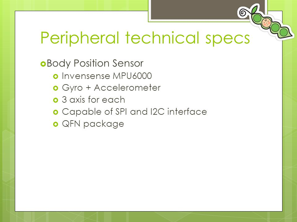 Peripheral technical specs