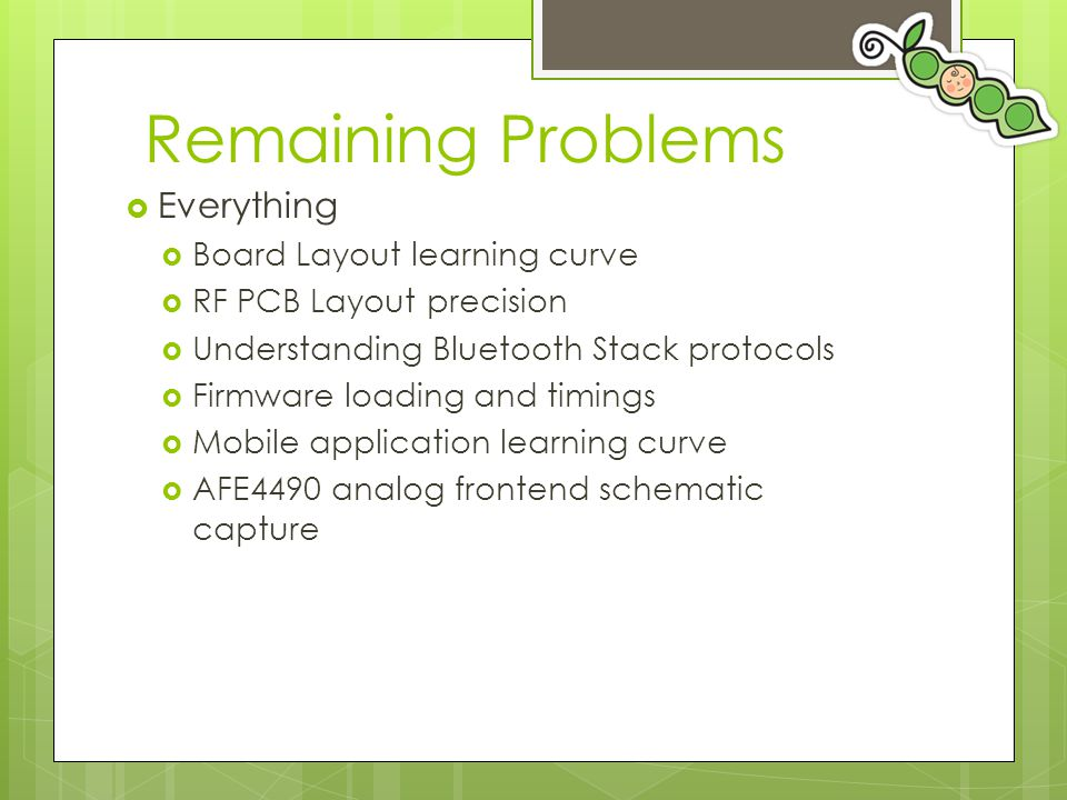 Remaining Problems Everything Board Layout learning curve