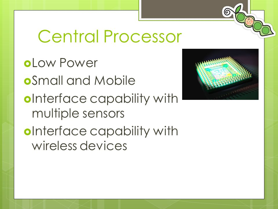 Central Processor Low Power Small and Mobile