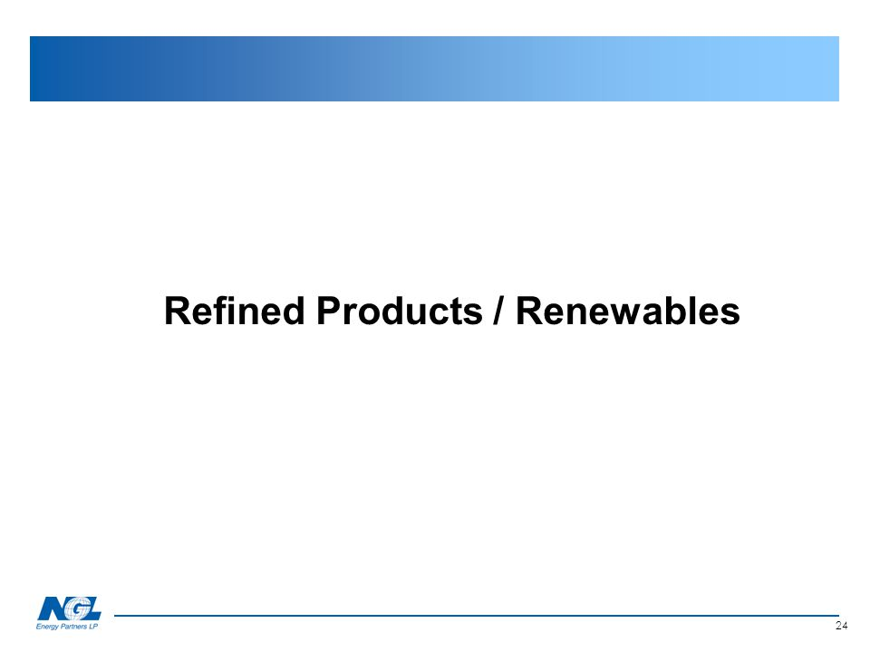 Refined Products / Renewables