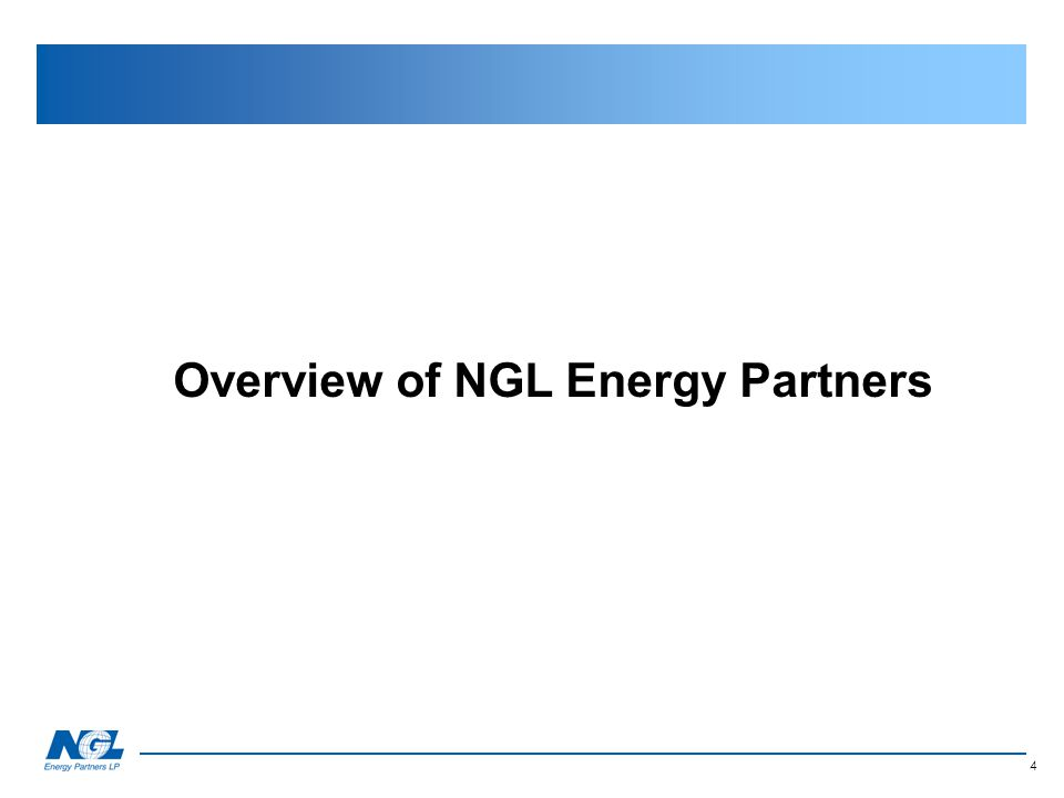 Overview of NGL Energy Partners