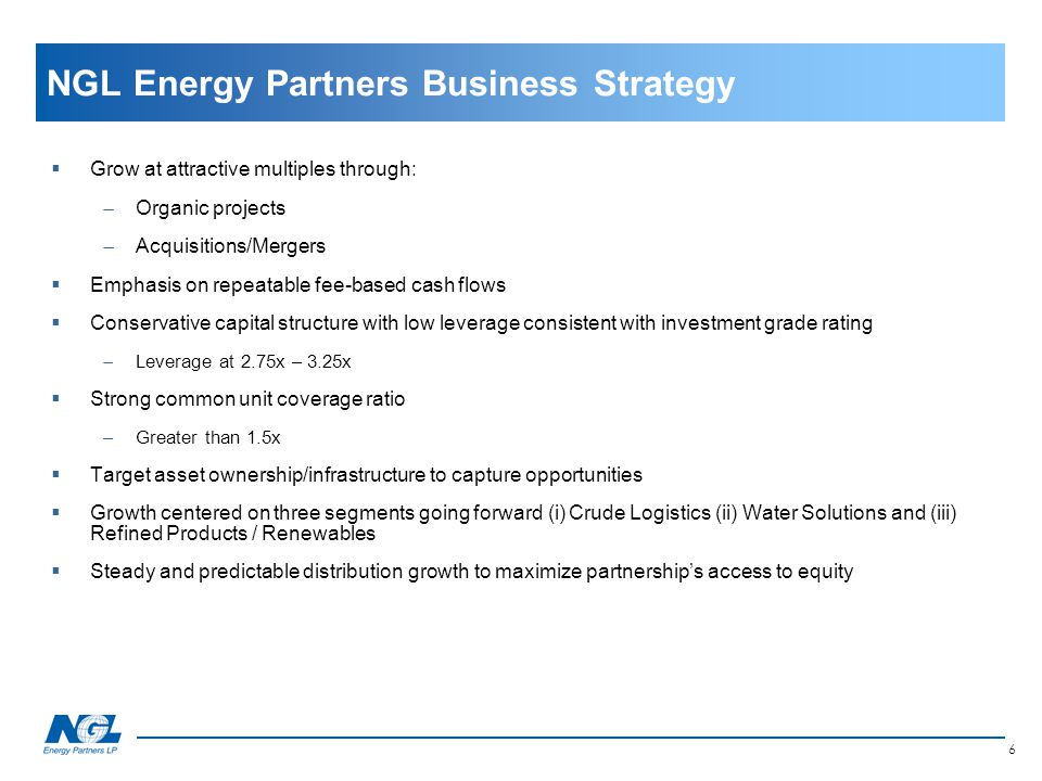 NGL Energy Partners Business Strategy