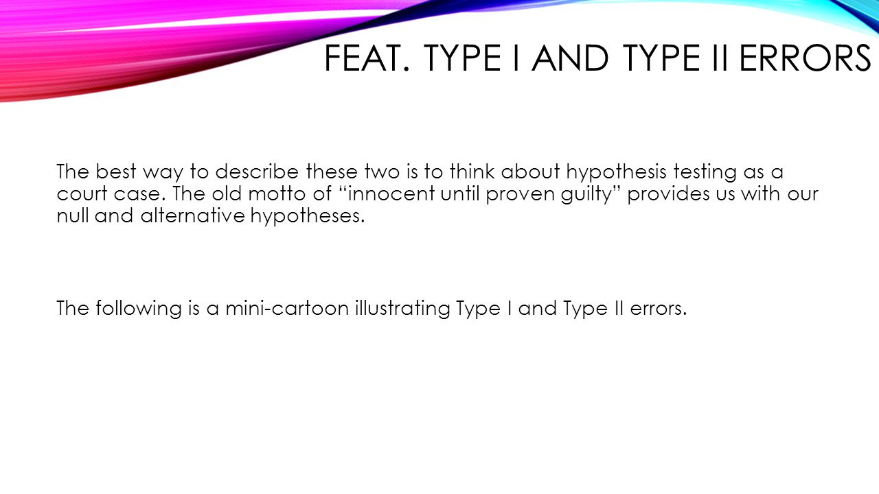 Feat. Type I and Type II Errors
