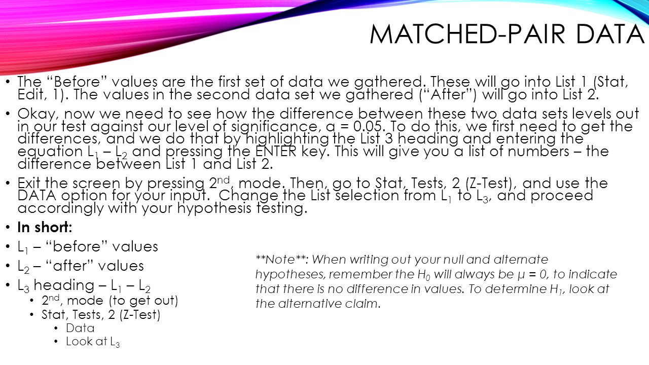 Matched-Pair Data