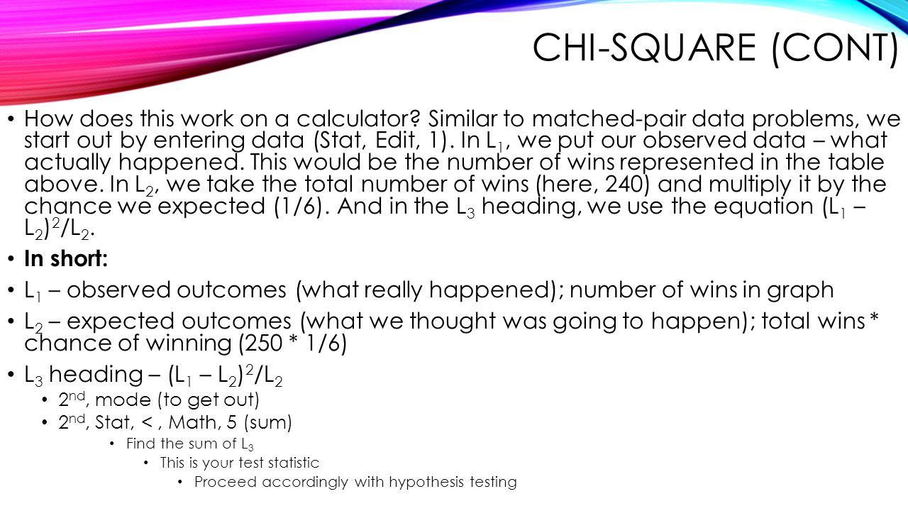Chi-Square (Cont)