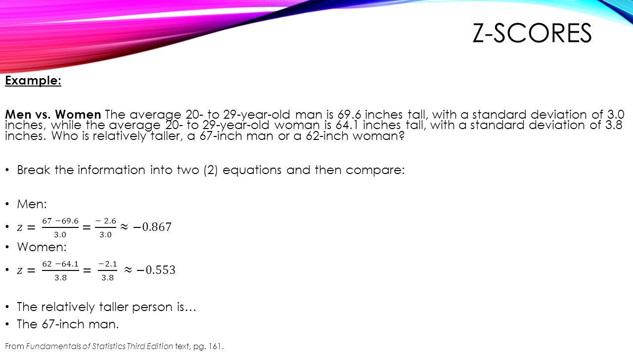 Z-scores Example: